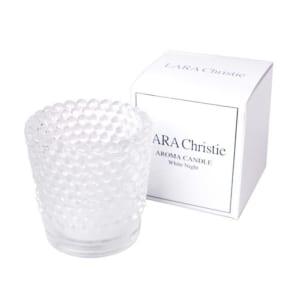 アロマキャンドル ホワイトナイト ララクリスティー LARA Christie WHITE Label a0011-w プレゼント 女性 男性 by ジュエリー王国