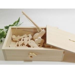 ☆ーひのきの木箱入りー お風呂で遊ぼう♪ さかなつり!☆