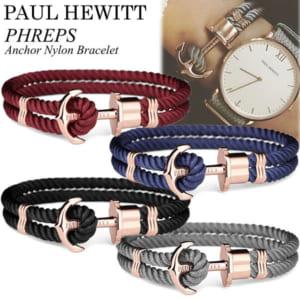 Paul Hewitt ポールヒューイット ブレスレット ユニセックス レディース メンズ ナイロン 重ね付 ペア 腕時計 アクセサリー PHREPS Anchor Nylon Bracelet by CAMERON