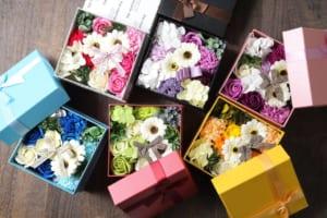 バスフレグランス ボックスアレンジ 花の入浴剤
