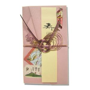 和紙の祝儀袋 桃