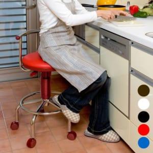 キッチンチェア 回転チェア キャスター付き