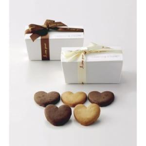 プチギフト ハートクッキー かわいらしい箱にお洒落なリボン