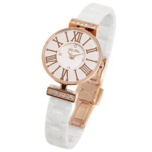 フォリフォリ 腕時計 FOLLI FOLLIE WF15B028BSZ XX MINI DYNASTY WINTER DREAM レディース腕時計ウォッチ ホワイト/ローズゴールド by ブランドショップAXES(日本流通自主管理協会会員)