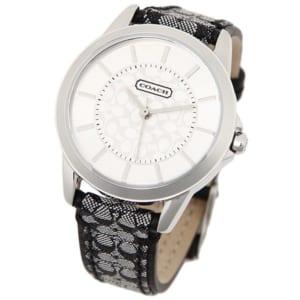 コーチ COACH 時計 腕時計 コーチ 腕時計 レディース COACH 14501524 クラシックシグネチャー CLASSIC SIGNATURE シルバー/ブラック by ブランドショップAXES(日本流通自主管理協会会員)