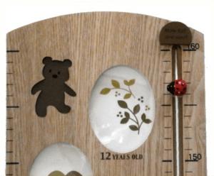 【木製の本格的な身長計】