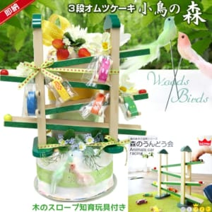 【木のおもちゃスロープ『森の贈り物』】