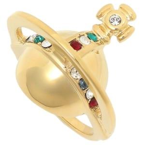 ヴィヴィアンウエストウッド リング アクセサリー VIVIENNE WESTWOOD SR1375/1 SOLID ORB RING レディース 指輪 GOLD by ブランドショップAXES(日本流通自主管理協会会員)