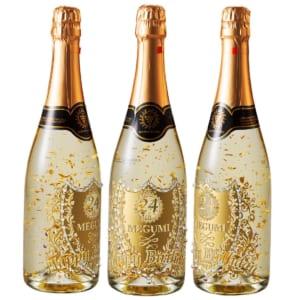 【舞い踊る金箔!】名入れ シャンパン スパークリングワイン