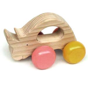 [日本製安心おもちゃ] 気弱なサイ [名入れ][押しぐるま 愉快で楽しい 木のおもちゃ 車 日本製 押し車 カタカタ 知育玩具 誕生祝い 赤ちゃん おもちゃ おしぐるま 6ヶ月 1歳 2歳 3歳 誕生日ギフト 出産祝いにお薦め♪男の子 女の子 木工職人手作り 親子 木育 家族 マッサージ 背中コロコロ ] by 木のおもちゃ製作所・銀河工房