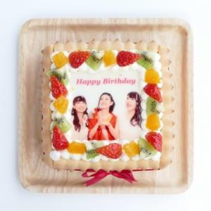 ビスキュイ付き写真プリントケーキ