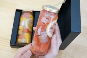 フルーツピクルス2種『シトラス3種とパイナップル・グレープフルーツとぶどう』ギフトセット