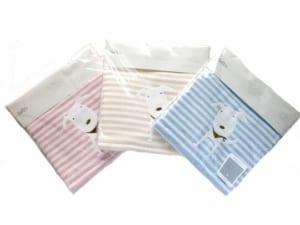 セルビエ「湯上りタオル」男の子 女の子 新生児 綿100%ピンク・ブルー