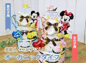 ディズニー 「おむつケーキ 3段」ぬいぐるみ オーガニック