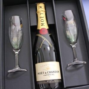 ブリュット・アンペリアル 「モエ・シャンドン + シャンパングラス」