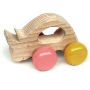 【名入れ】[日本製]気弱なサイ[押しぐるま 愉快で楽しい 木のおもちゃ