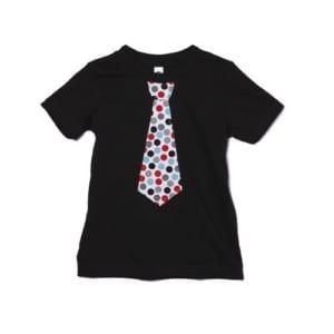 半袖Tシャツ「RED and BLACK dots NECKTIE」 (親子ペア服)