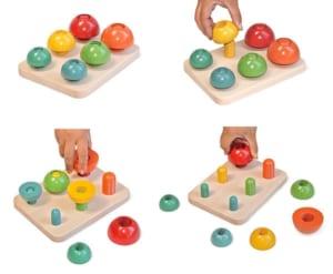 [日本製安心おもちゃ] きのこのこのこ (日本グッド・トイ委員会選定 木のおもちゃ)  [名入れ・送料無料][0才~100才 バリアフリー 知育玩具 積み木 6ヶ月 8ヶ月 10ヶ月 1歳 2歳 3歳 4歳 5歳 6歳 7歳 8歳 誕生日ギフト~出産祝い 男の子 女の子 赤ちゃん おもちゃ 日本製 親子 木育 家族] by 木のおもちゃ製作所・銀河工房